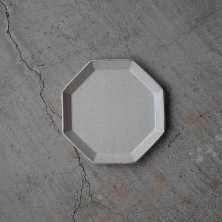 寿山窯 angle アングル 18.5cmプレート ホワイト