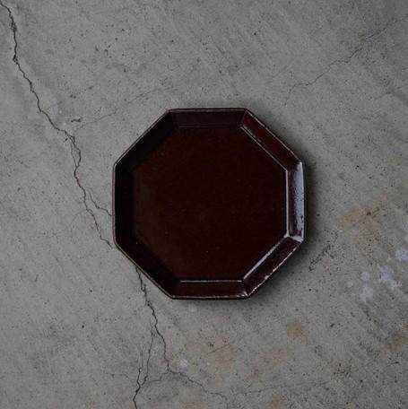 寿山窯 angle アングル 18.5cmプレート ブラウン