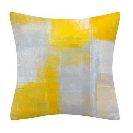 Yellow painting クッション 45×45
