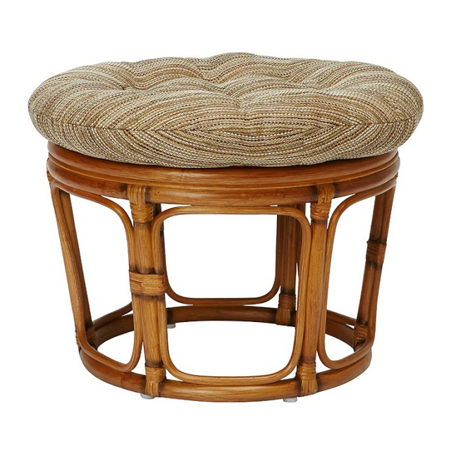 WICKER EASY STOOL BW
