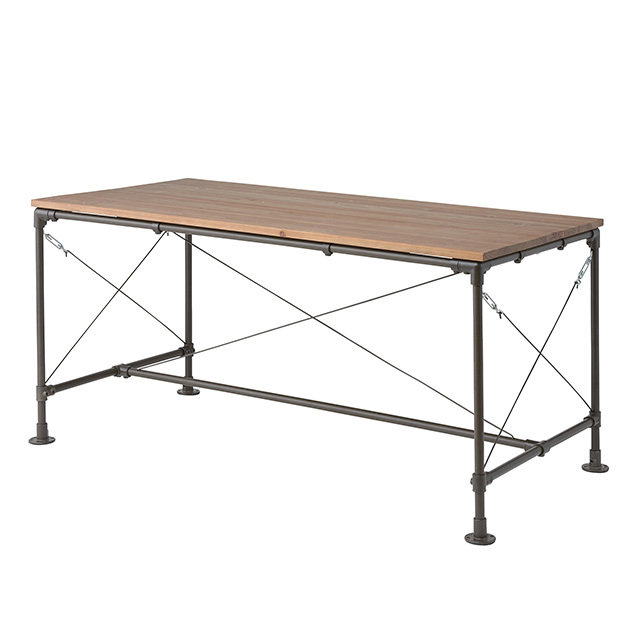 クロスワイヤーウッドテーブル