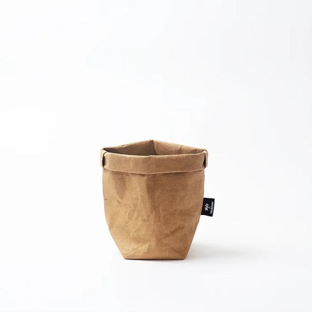 ウォッシャブルペーパーサック(Brown・S)