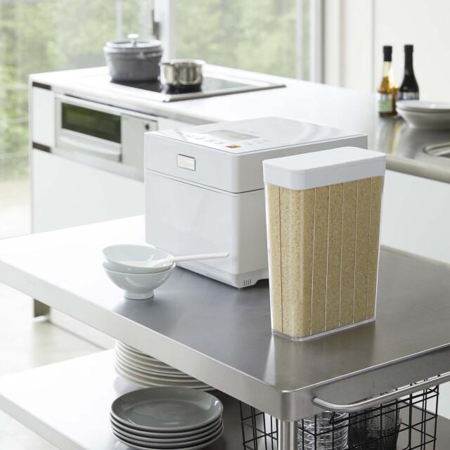 1合分別冷蔵庫用米びつ タワー(白)