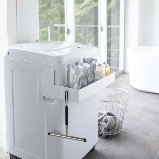 マグネット伸縮洗濯機ラック タワー(白)