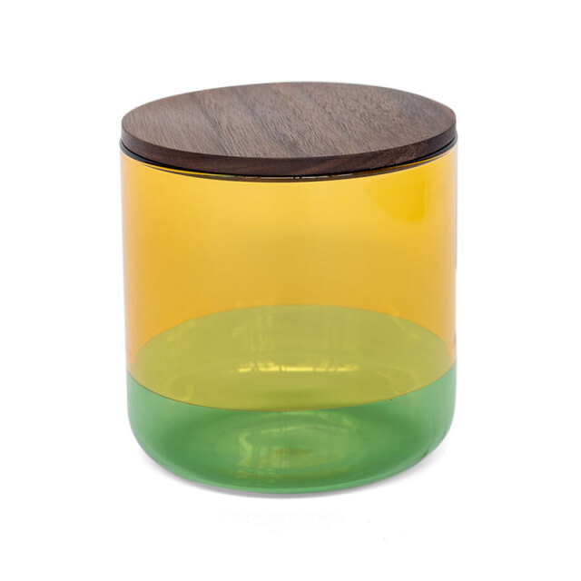 TWO TONE CANISTER (L) Yellow×Green