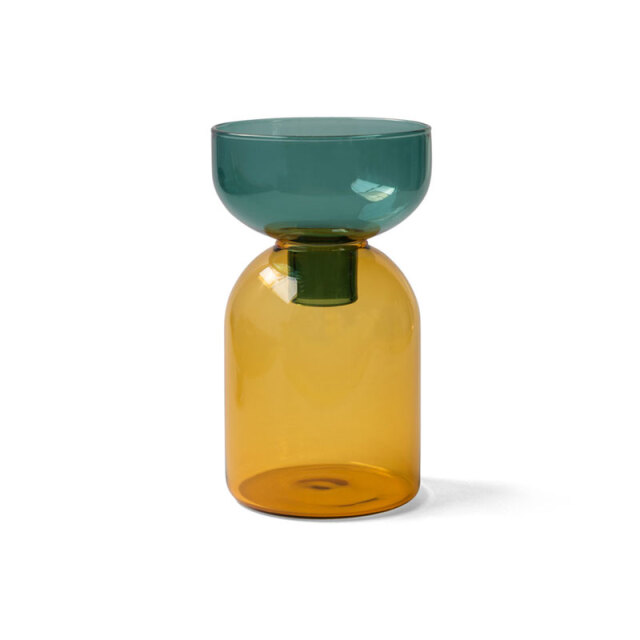 TWO TONE VASE / Green×Yellow