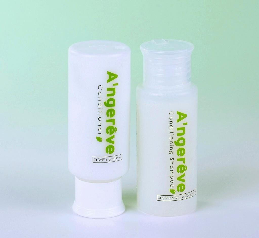 美容室専売 A'ngereve コンディショニングシャンプー(60mL)&コンディショナー(60g)ミニボトルサイズ セット