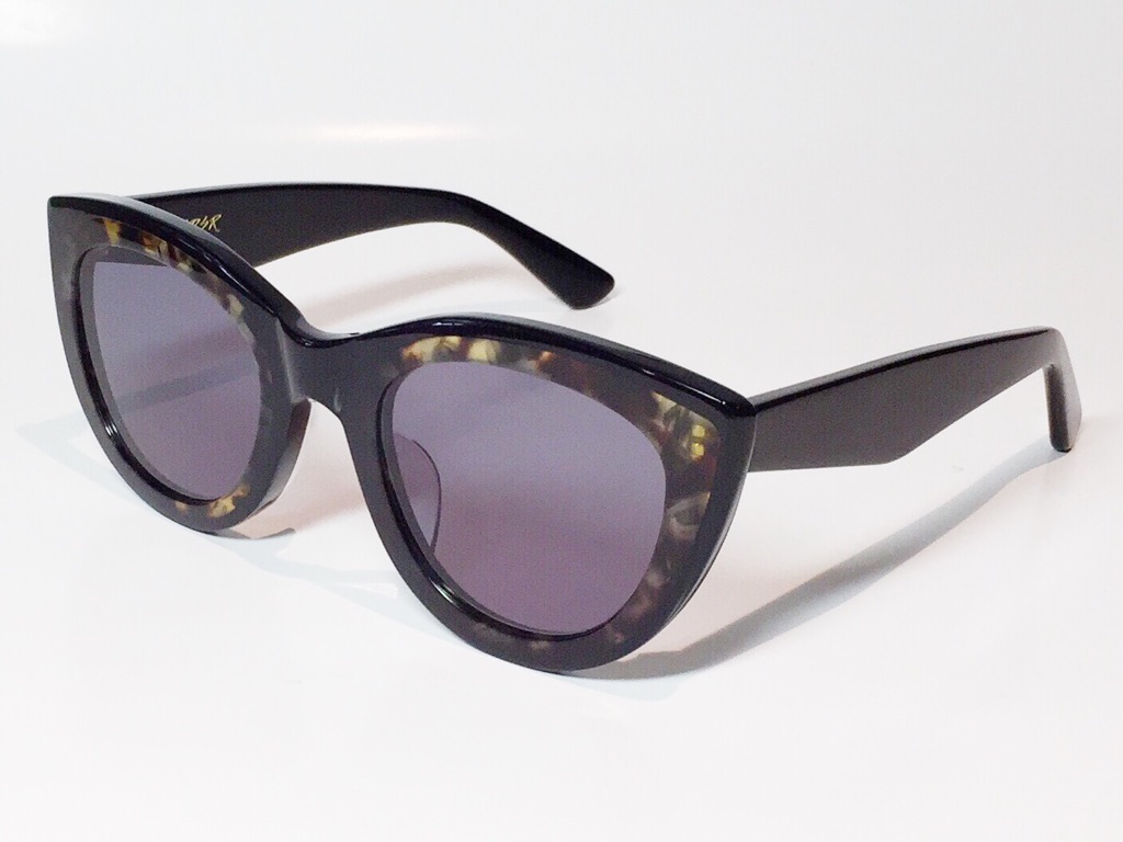 【送料無料】A.D.S.R.(エーディーエスアール) LAURYN  02 ( Shiny Black & Havana Yellow / Black Lens )