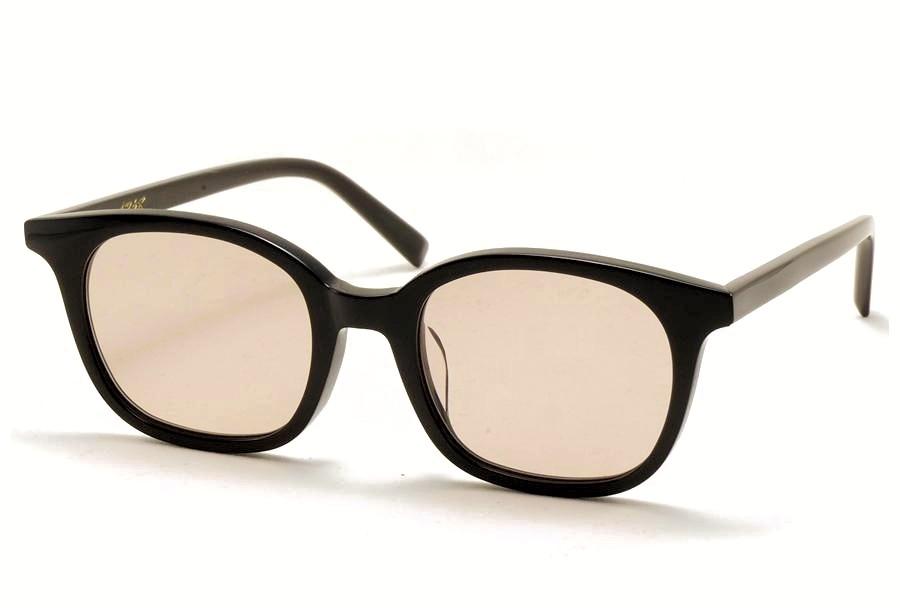 A.D.S.R.(エーディーエスアール) MONK【モンク】  01(b) ( Shiny Black / Light Brown Lens )