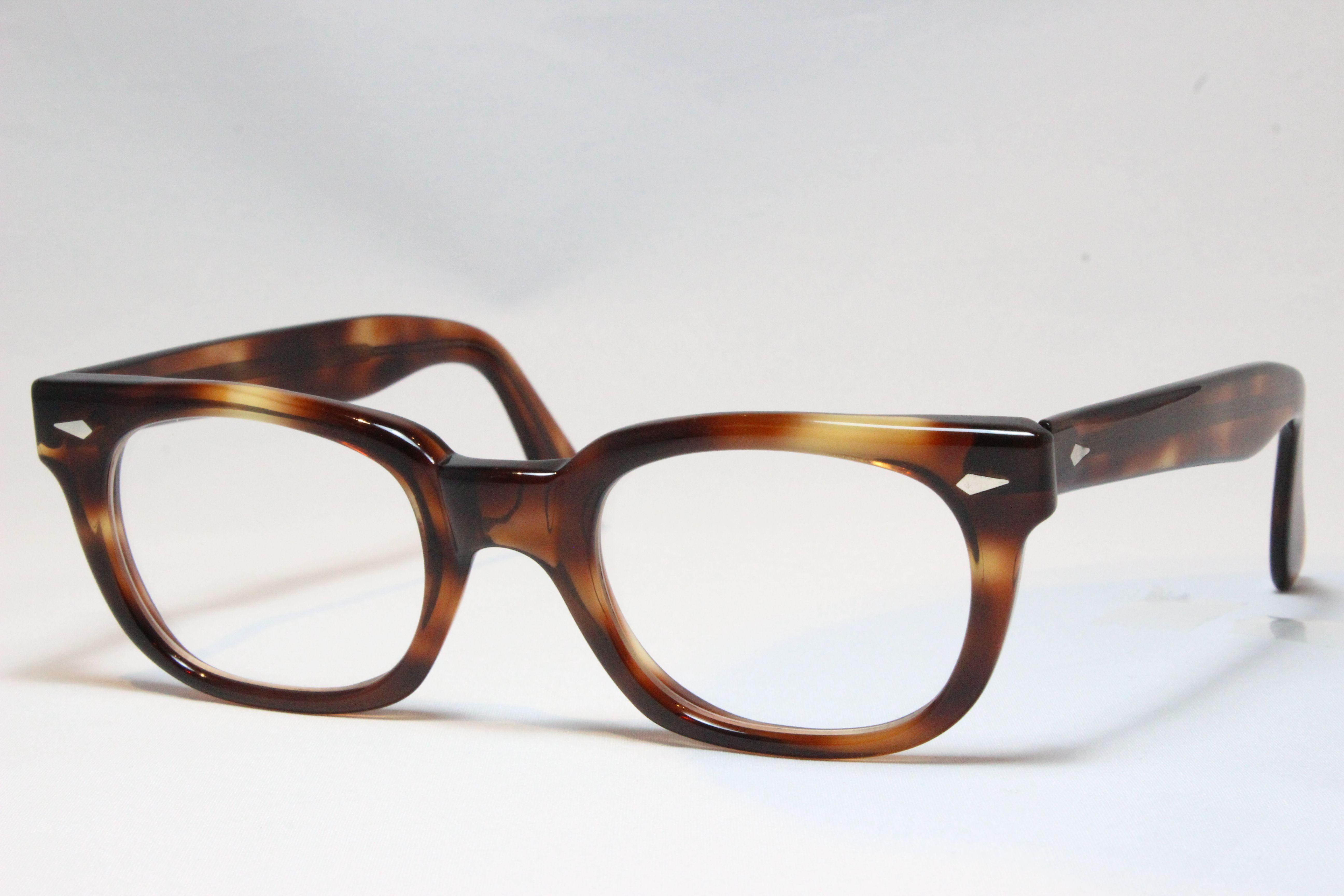 【送料無料】AMERICAN OPTICAL 1960'S DEMI BROWN アメリカンオプティカル ヴィンテージメガネ (AO-027)
