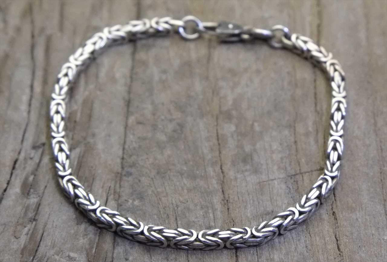【送料無料】Vintage Silver 925 Bracelet (B018) ヴィンテージ シルバー アクセサリー ブレスレット