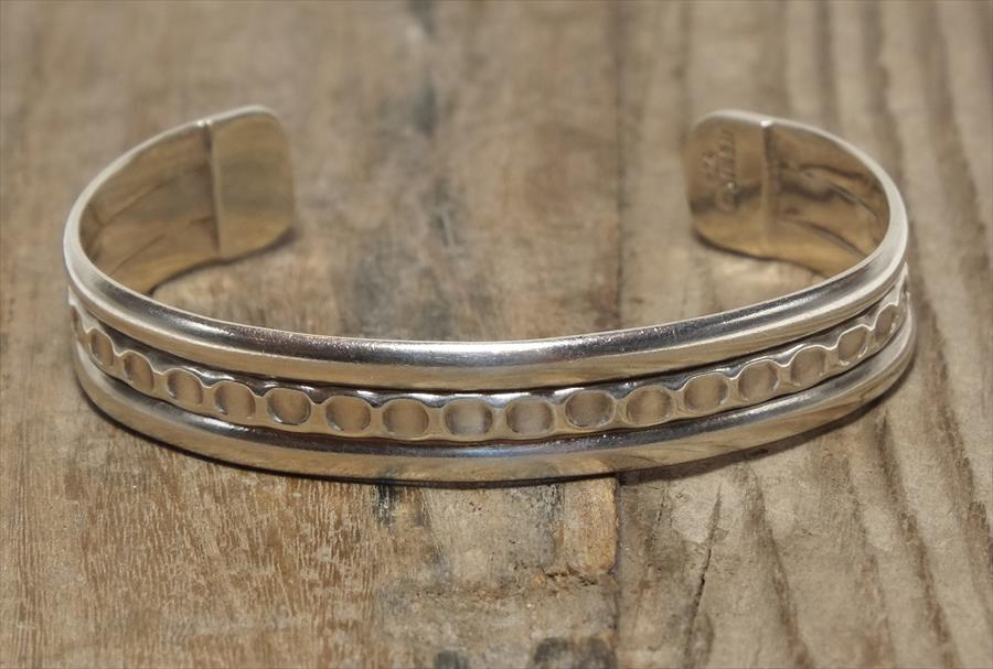 ヴィンテージ メキシカン シルバー (B042) ビンテージ アクセ バングル ブレスレット レア Vintage Mexican Silver 925 Bangle Bracelet
