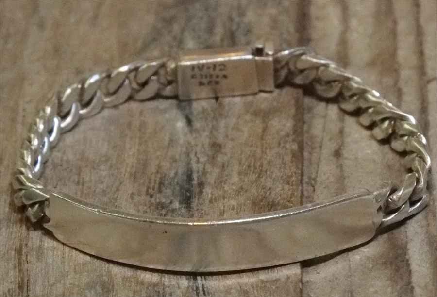 【送料無料】Vintage Mexican Silver 925 ID Bracelet (B058)ヴィンテージ メキシカン シルバー 925 ID ブレスレット アクセサリー ジュエリー