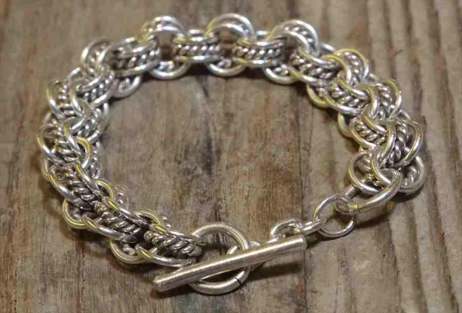 【送料無料】 Vintage Mexican Silver 925 Toggle Bracelet  (B064) ヴィンテージ メキシカン シルバー アクセサリー ブレスレット ジュエリー