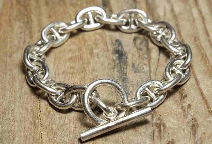 ヴィンテージ シルバー (B065) ビンテージ アクセ エルメス ブレスレット レア Vintage Silver 925 Toggle Bracelet