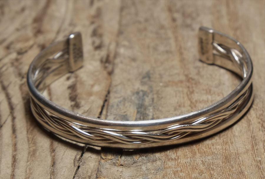 ヴィンテージ メキシカン シルバー (B066) ビンテージ アクセ バングル ブレスレット レア Vintage Mexican Silver 925 Bangle Bracelet