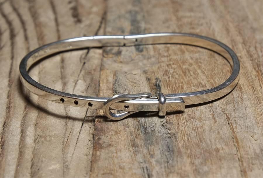 ヴィンテージ メキシカン シルバー (B074) ビンテージ アクセ ベルト ブレスレット レア Vintage Mexican Silver 925 Bracelet