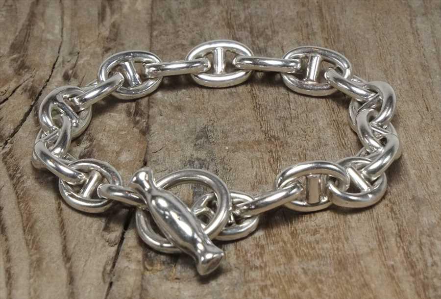 ヴィンテージ シルバー (B082) ビンテージ アクセ エルメス ブレスレット レア Vintage Silver 925 Toggle Bracelet
