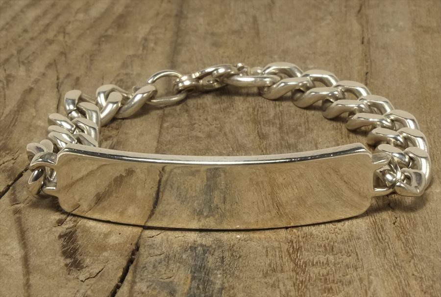 ヴィンテージ  シルバー (B088) ビンテージ アクセ バングル IDブレスレット プレーン 人気  Vintage Silver 925 Bracelet