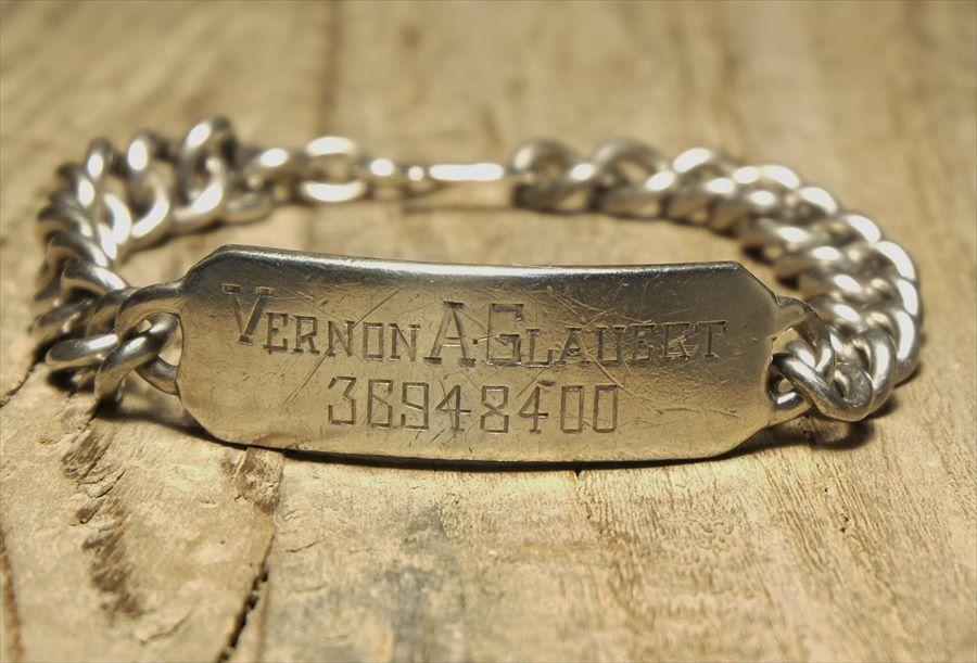 ヴィンテージ メキシカン シルバー (B090) ビンテージ アクセ バングル IDブレスレット 刻印  レア Vintage Mexican Silver 925 Bracelet