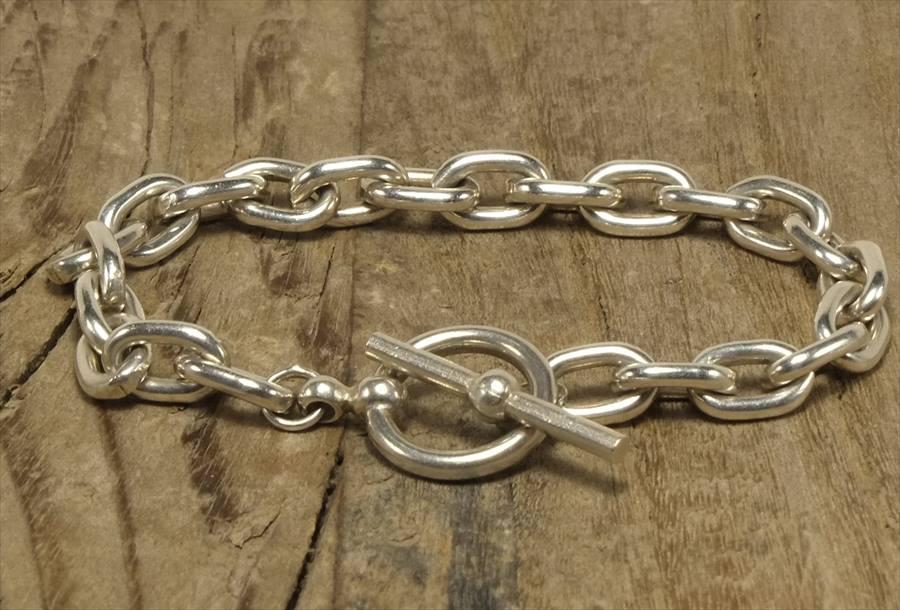 ヴィンテージ シルバー (B094) ビンテージ アクセ トグルブレスレット  Vintage Silver 925 Toggle Bracelet