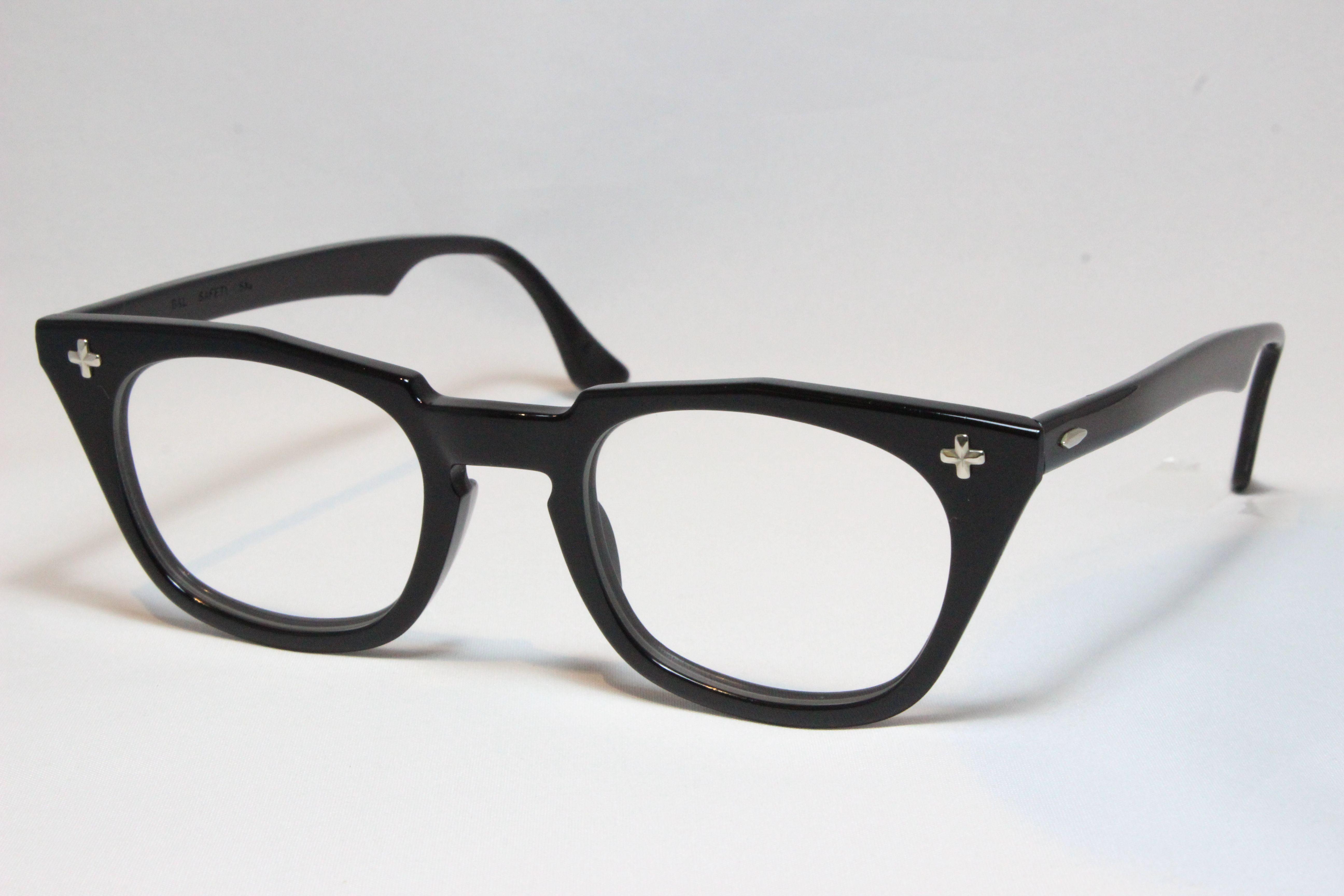 【送料無料】Bausch&Lomb SAFETY CROSS 1950'S Vintage ボシュロム ヴィンテージメガネ(BL-016)