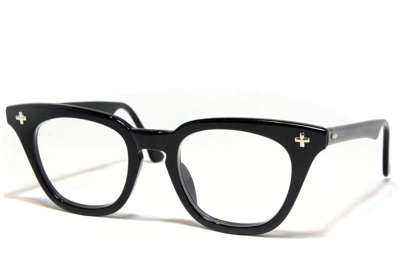【送料無料】Bausch&Lomb  SAFETY CROSS 1950'S Vintage ボシュロム ヴィンテージメガネ