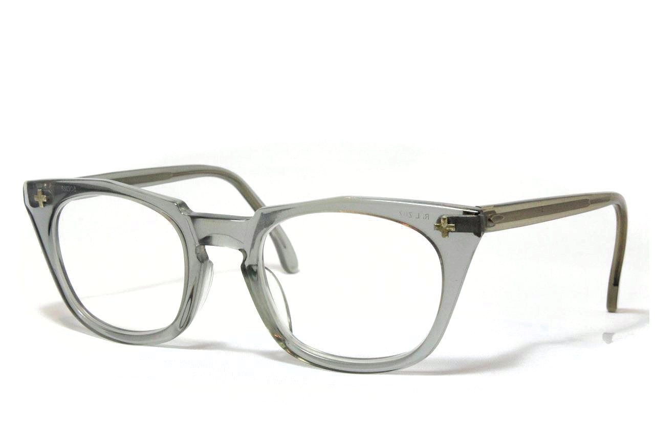 【送料無料】Bausch&Lomb SAETY Z87 CROSS 1950'S Vintage ボシュロム ヴィンテージメガネ(CLR)