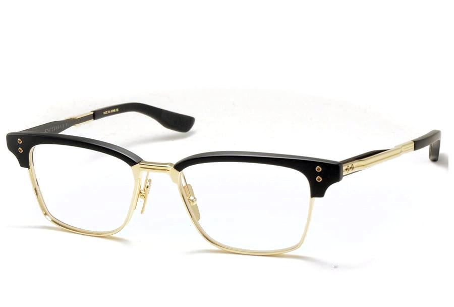 DITA (ディータ) STATESMAN SIX 52 (ステイツマン6) DTX132-52-02 Matte Black - White Gold - Matte Black 【Size52】