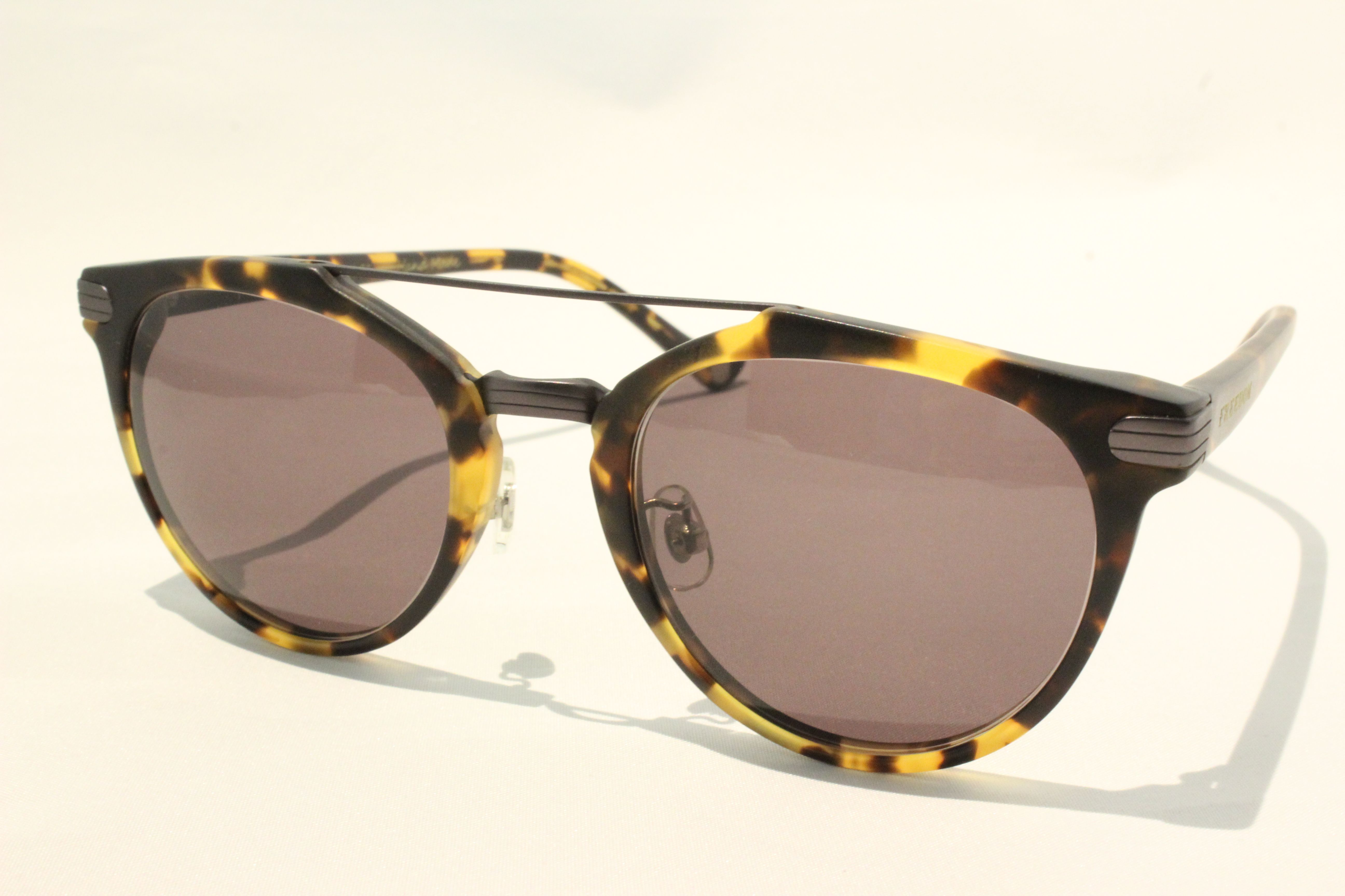 【送料無料】FREEDOM SPECTACLES (フリーダムスペクタクルス) POWELL  COLOR. ( Matte Yellow Tortoise - Matte Dark Gunmetal / Brown )