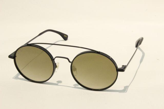 【送料無料】 9FIVE 50-50 〔フィフティーフィフティー〕 Black Crome Gold Mirror Lens