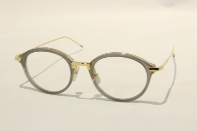THOM BROWNE(トム ブラウン) TB-011G-49 ( GREY/18KGOLD/ CLEAR LENS)