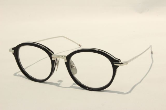 THOM BROWNE(トム ブラウン) TB-011H-49 ( NAVY/SILVER/ CLEAR LENS)