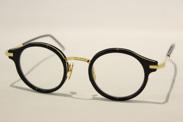 THOM BROWNE(トム ブラウン)TB-807-D-NVY-18K-GLD-45  ( NAVY / CLEAR LENS)