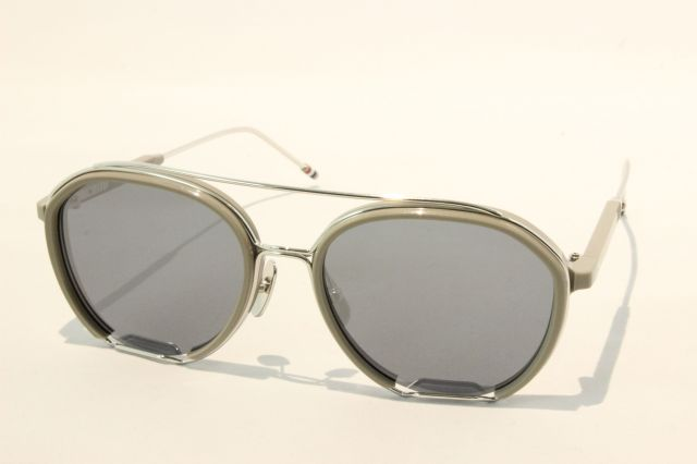 THOM BROWNE(トム ブラウン) TBS-810-02 (Grey - Silver w/ Dark Grey - Silver Flash Mirror - AR  )