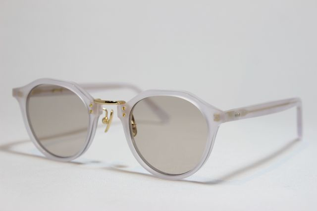 A.D.S.R.(エーディーエスアール) SATCHMO [ サッチモ ] 10 ( Pale Gray & Gold Metal / Light Brown )