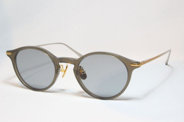 A.D.S.R.(エーディーエスアール) SHELLEY [ シェリー ] 03 ( Charcoal / Gold&Silver Charcoal  (Clear) Lens )