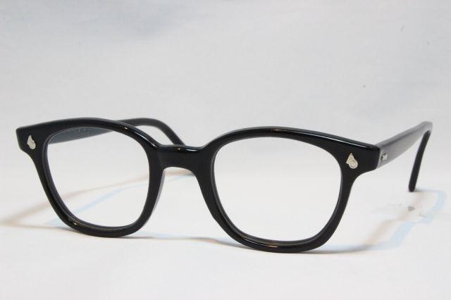 【送料無料】AMERICAN OPTICAL SAFETY FLEXI-FIT 1950's Vintage アメリカンオプティカル ヴィンテージメガネ (Black)