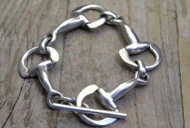 【送料無料】Vintage Mexican Silver 925 Hosebit Toggle Bracelet  (B014) ヴィンテージ シルバー アクセサリー ブレスレット
