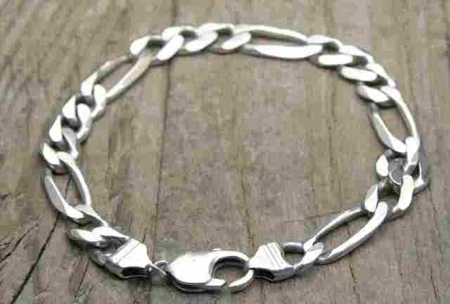 【送料無料】Vintage Italy Silver 925 Bracelet (B016) ヴィンテージ シルバー アクセサリー ブレスレット