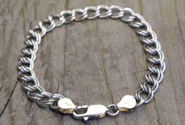 【送料無料】Vintage Italy Silver 925 Bracelet (B017) ヴィンテージ シルバー アクセサリー ブレスレット