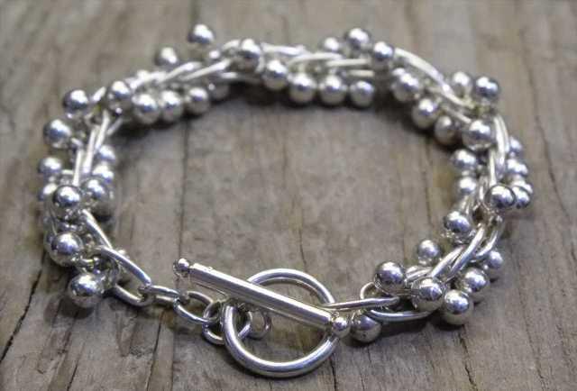 【送料無料】Vintage Mexican Silver 925 Toggle Bracelet  (B025)  ヴィンテージ シルバー アクセサリー ブレスレット