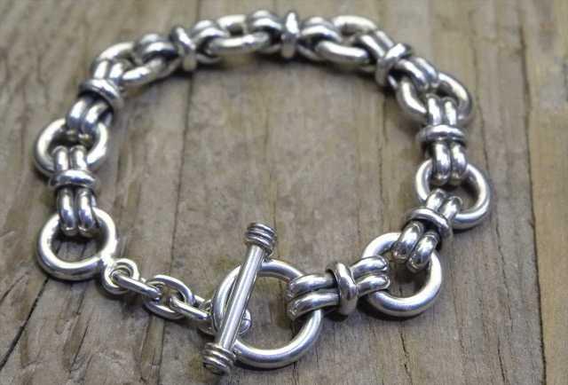 【送料無料】Vintage Mexican Silver 925 Toggle Bracelet  (B028) ヴィンテージ シルバー アクセサリー ブレスレット