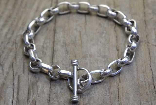 【送料無料】Vintage Silver 925 Toggle Bracelet (B-029) ヴィンテージ シルバー アクセサリー ブレスレット