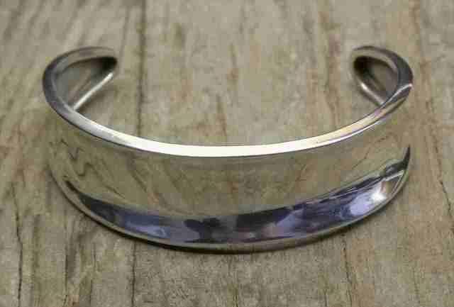 【送料無料】 Vintage Mexican Silver 925 Bangle Bracelet  (B034) ヴィンテージ メキシカン シルバー アクセサリー ブレスレット