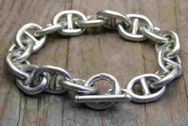 【送料無料】Vintage Silver 925 Toggle Bracelet (B039) ヴィンテージ シルバー アクセサリー ブレスレット