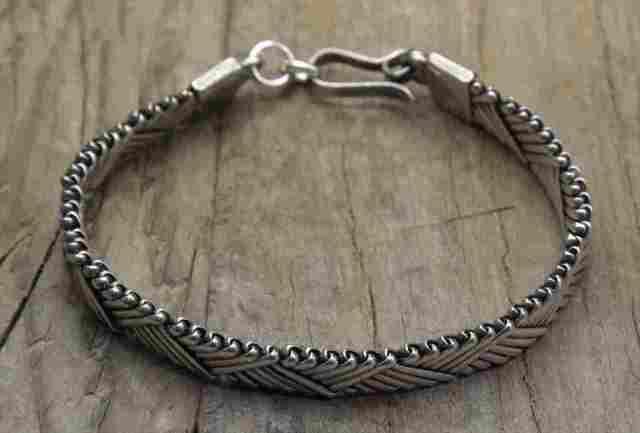 【送料無料】Vintage Silver 925 Bracelet(B045)ヴィンテージ シルバー アクセサリー ブレスレット