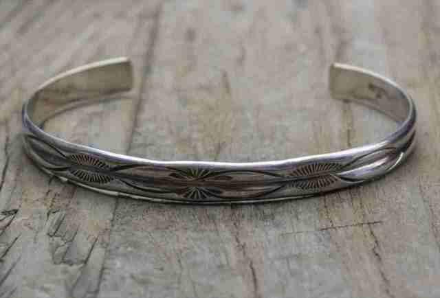 【送料無料】 Vintage Silver 925 Bangle Bracelet (B047) ヴィンテージ シルバー アクセサリー バングル ブレスレット