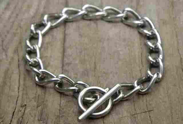 【送料無料】Vintage Silver 925 Toggle Bracelet (B048)ヴィンテージ シルバー アクセサリー ブレスレット
