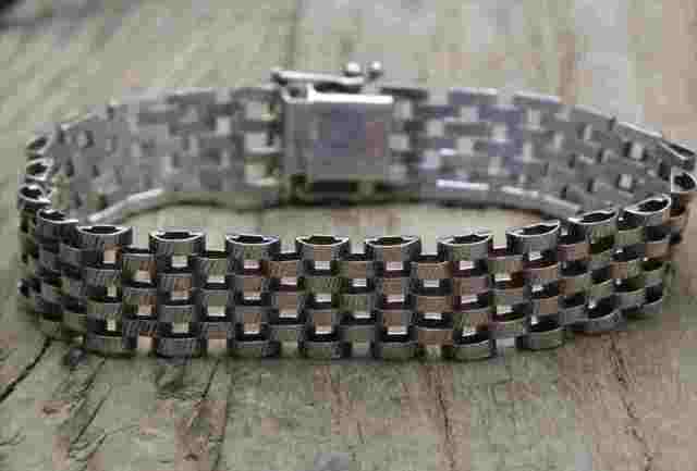 【送料無料】Vintage Itary Silver 925  Bracelet (B049)ヴィンテージ イタリア シルバー アクセサリー ブレスレット
